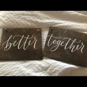 Other - Better Together Wedding Chair Signs